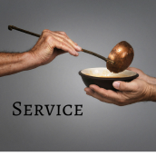 Agape also does regular service opportunities.